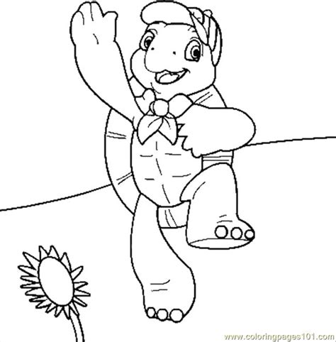coloring pages franklin reptile gt turtle free