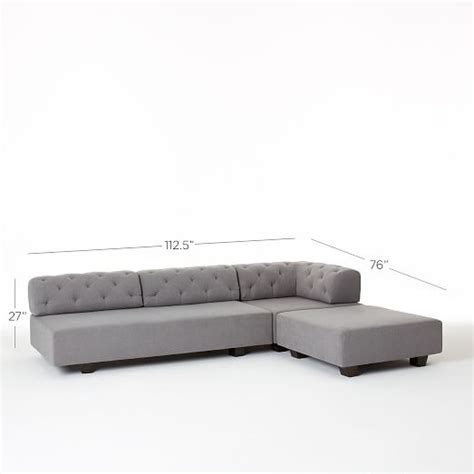 Tillary 174 6 Piece Sectional Tufted West Elm