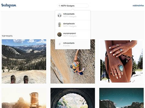 Search For Instagram Instagram Web Interface Gets A New Search Bar Technology News