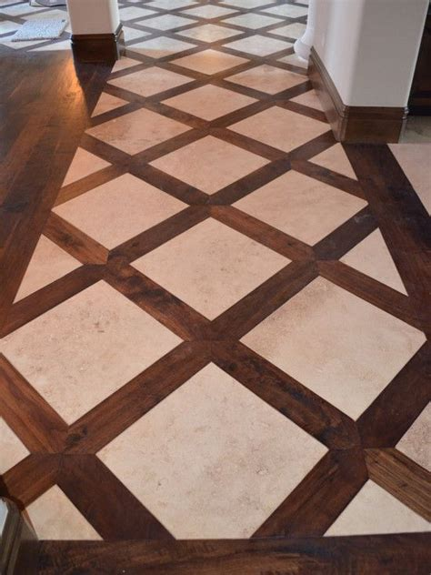 basketweave tile and wood floor design pictures remodel