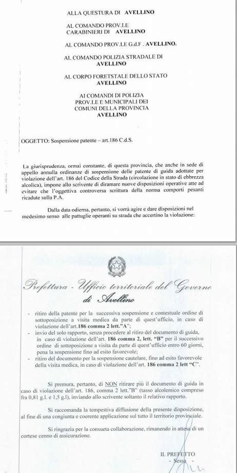 prefettura di potenza ufficio patenti il meglio di potere sospensione patente di guida 186