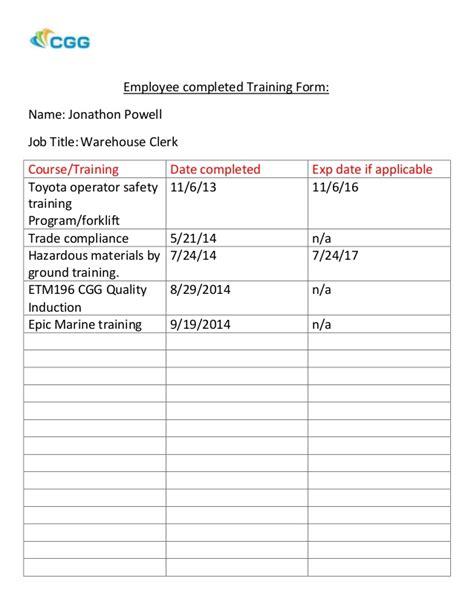 Reservation Letter For Ojt employee completed form