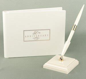 50th Wedding Anniversary Small Ivory Guest Book