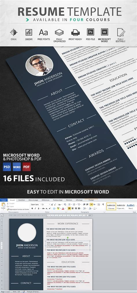graphic resume templates 50 best resume templates design graphic design junction