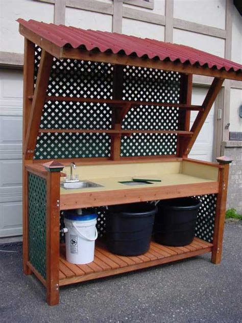 potting bench design adirondack chair plans australia wood craft ideas