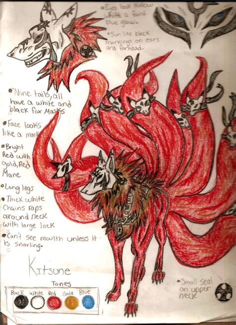 nine tailed kitsune by chasinganearlydawn on deviantart