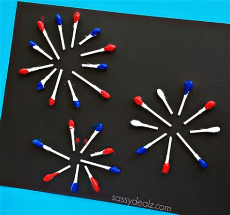 Paper Fireworks Crafts - q tip fireworks craft for crafty morning