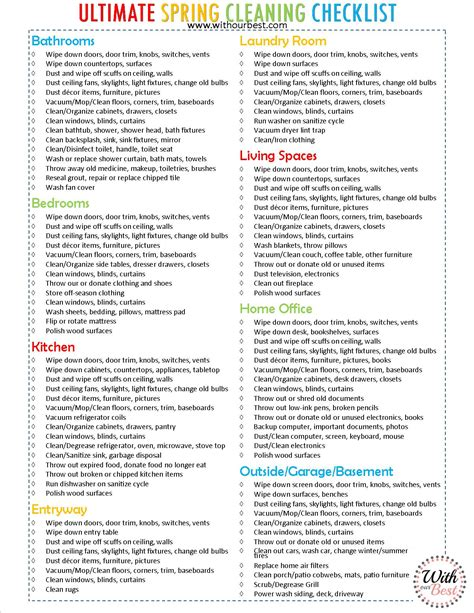 spring cleaning checklist the ultimate spring cleaning checklist cleaning tips