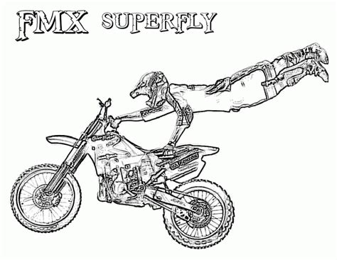 free coloring pages of fox racing motocross