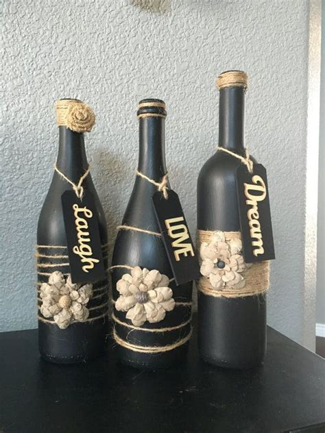 wine bottle home decor 1000 ideas about wine bottle crafts on pinterest wine