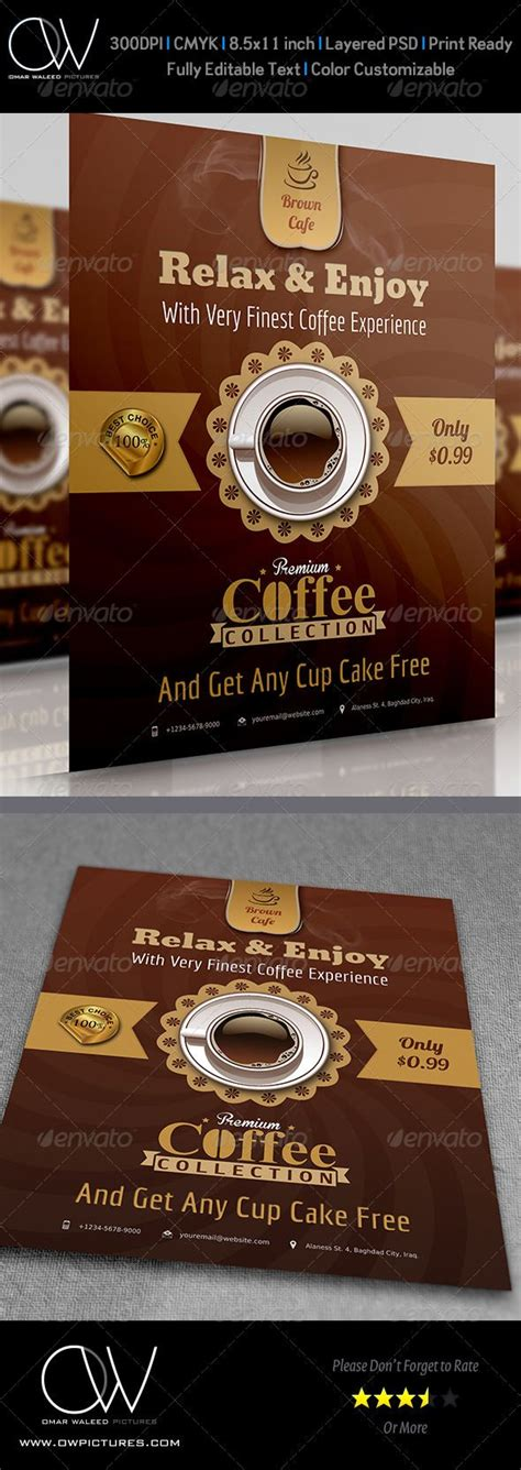 cafe flyer template 27 best ideas about flyer on promotion