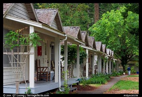picture photo cabins of crescent lake lodge olympic