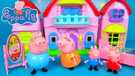 Peppa Pig Beautiful Villa peppa pig beautiful villa unboxing and review peppa big speelgoed