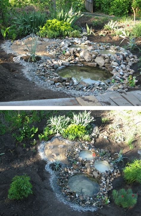how to build relaxing pond in your garden from recycled