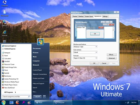 desktop themes for windows xp sp2 windows 7 ultimate sp2 by vher528 on deviantart