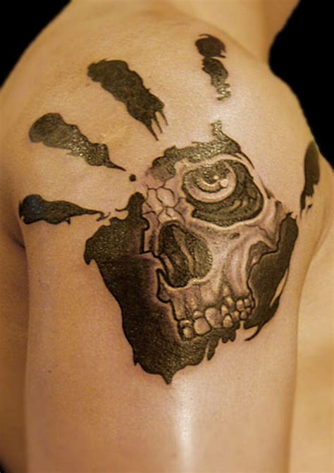 skull head tattoos designs 73 stylish skull shoulder tattoos