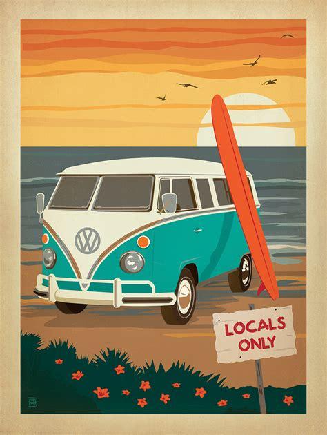 volkswagen bus art vw bus surf art www imgkid com the image kid has it