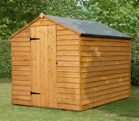 Assembled Garden Sheds by Forest Garden 8x6 Overlap Apex Security Shed Door