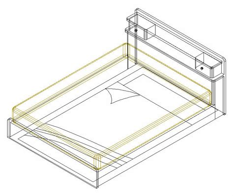 simple cad simple bed cad 3d drawings autocad drawing autocad dwg