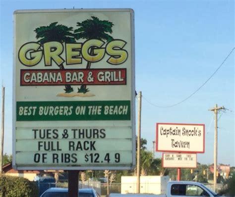 Restaurants In Garden City Sc by Greg S Cabana Bar And Grill Garden City