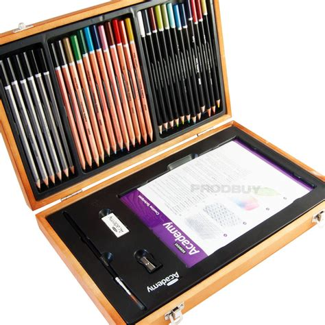 Drawing Kit by Derwent Academy Artists Watercolour Pencil Drawing Wooden