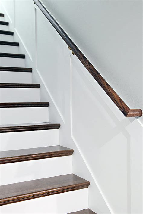 stair banister installation unfinished staircase makeover popsugar home