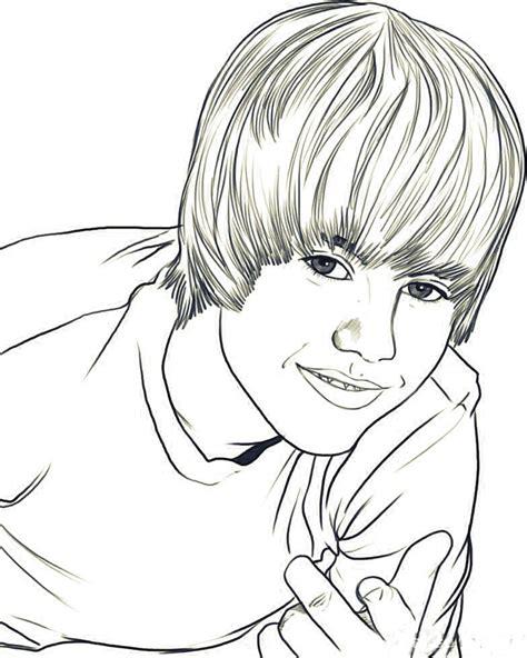 dibujo de justin bieber para imprimir y colorear dibujos para colorear infantil