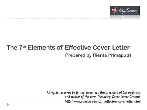 elements of a cover letter the 7 elements of a highly effective cover letter