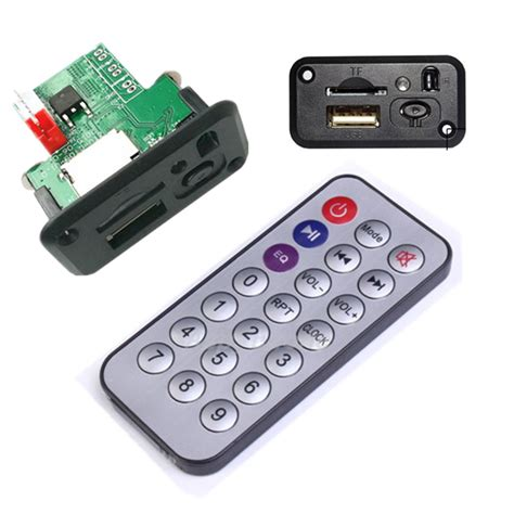 Remote Mp3 mp3 decoder board usb tf reader ir remote fm bluetooth car audio board module ebay