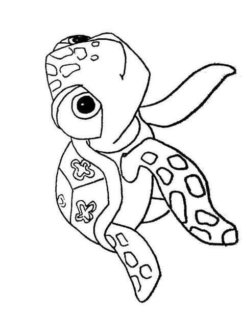 nemo squirt coloring pages the gallery for gt finding nemo squirt coloring pages