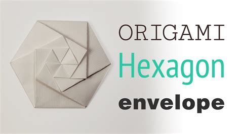 Origami Envelope Pattern - origami hexagonal envelope pouch tutorial diy