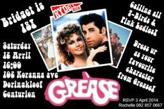 Grease Party Invitations Cimvitation Grease Invitation Template