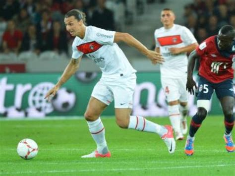 lille psg 1 2 but ibrahimovic et resume