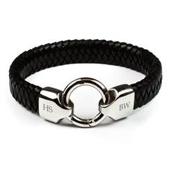 Leather Infinity Bracelet Personalised S Infinity Leather Bracelet Treat Republic