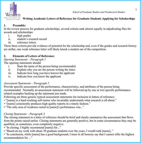 Scholarship Recommendation Letter Template