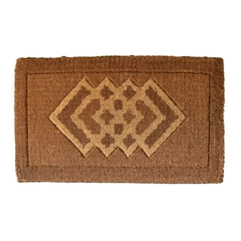 Coir Doormat Cross Diamonds Coir Doormat By Imports Decor In Doormats