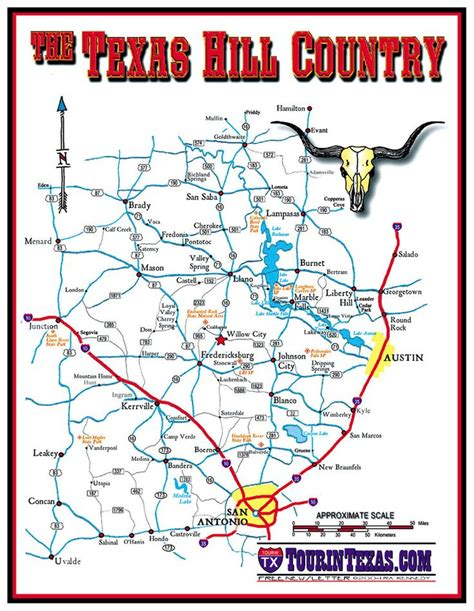 texas hill country map pin by smit on texas visit