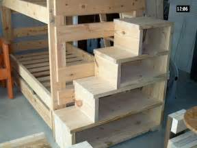 used bunk beds build your own bunk bed with stairs woodworking projects