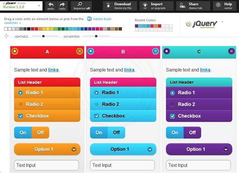 using jquery themes in html สร าง create theme บน jquery mobile เป นของตนเองแบบง าย ๆ