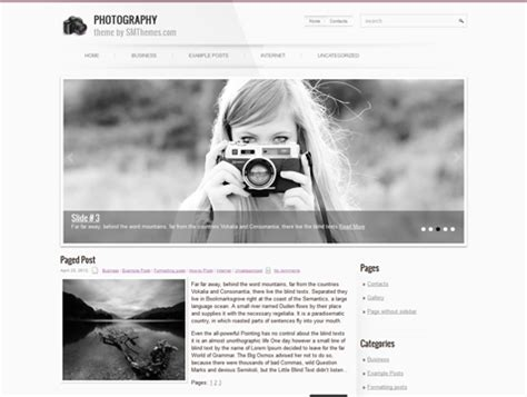 themes wordpress photography photography free wordpress theme