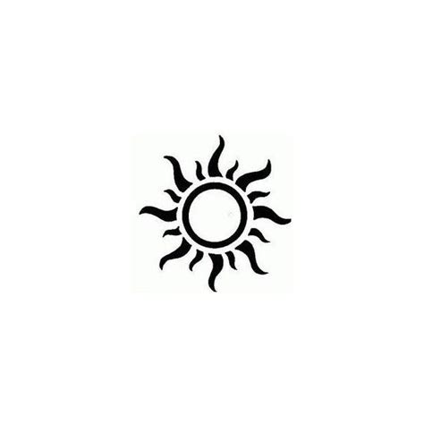 sun tattoo designs liked on polyvore featuring accessories