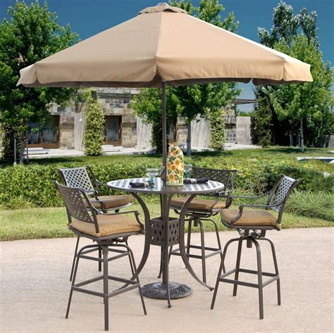 Patio awesome dining set with umbrella sets folding wicker breathtaking furniture table hole