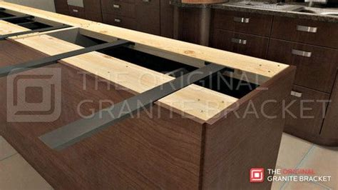 granite bar top overhang support hidden island support bracket the original granite