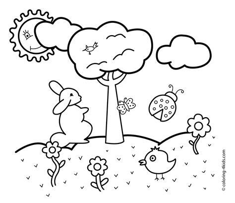preschool spring season coloring pages free coloring pages spring coloring pages rabbit for kids seasons coloring