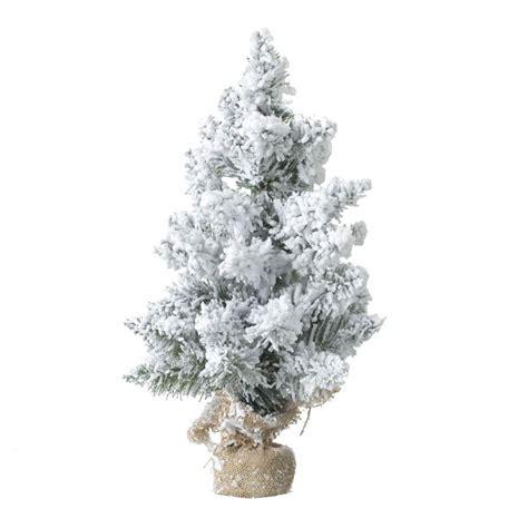 albero di natale da tavolo albero artificiale da tavolo innevato blooming alt 50 cm
