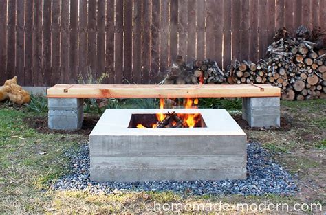 diy concrete block bench homemade modern ep57 outdoor concrete bench