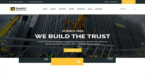 simple construction html template 26 engineering html templates free creative