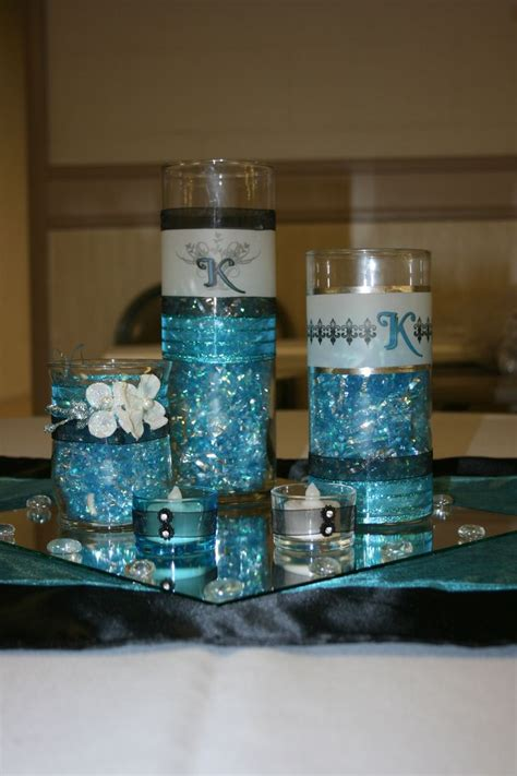 Black White And Silver Bathroom Ideas by Dollar Store Centerpiece Turquoise Black My