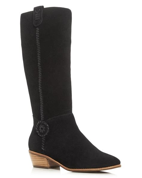 rogers boots rogers sawyer mid heel boots in black lyst