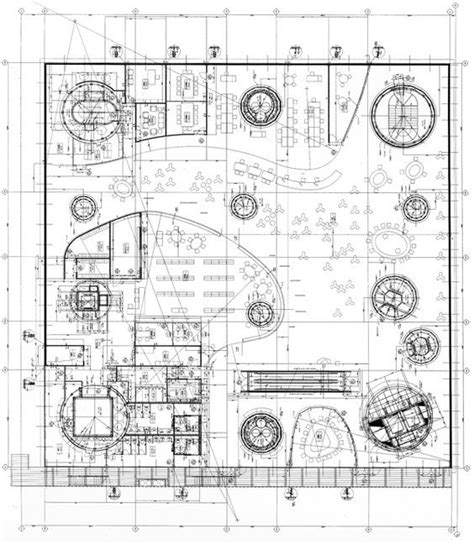 pin by matthieu mielvaque on architectural drawing pinterest primer piso de la mediateca de sendai toyo ito